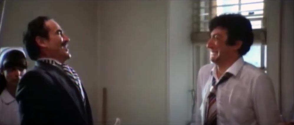 Gassman e Proietti sul set di A Wedding (Un matrimonio) del 1978 di R. Altman